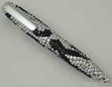 Black and Clear Waves Crystal Pen-Pen-Schoppy's Since 1921