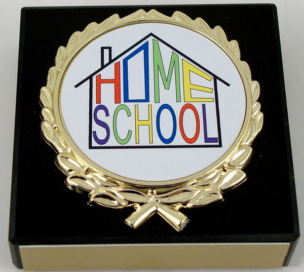 Black Marble Home School Paperweight-Paperweight-Schoppy's Since 1921
