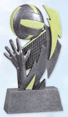 Glow In The Dark Volleyball Resin Trophy-Resin-Schoppy's Since 1921