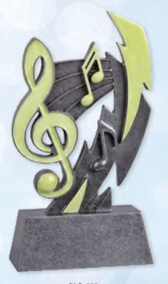 Glow In The Dark Music Resin Trophy