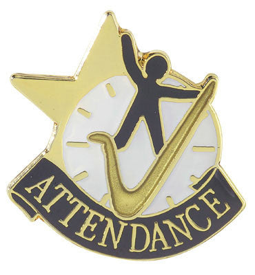 Attendance Achievement Lapel Pins
