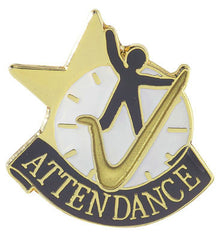 Attendance Achievement Lapel Pins-Pin-Schoppy's Since 1921