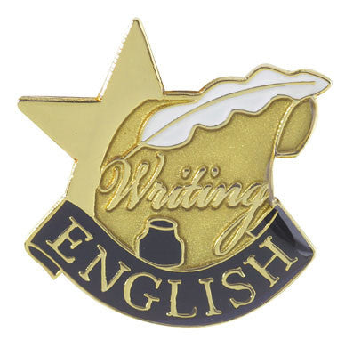 English Writing Achievement Lapel Pins