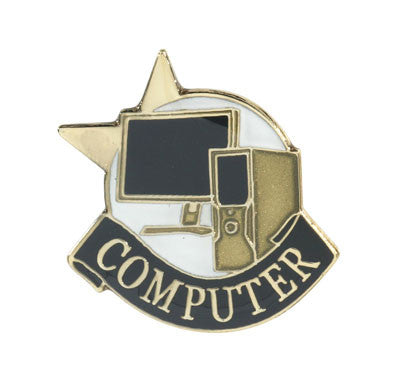 Computer Achievement Lapel Pins
