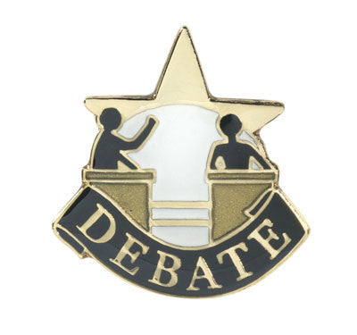 Debate Achievement Lapel Pins