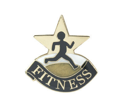 Fitness Achievement Lapel Pins