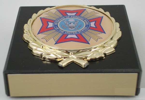 Black Marble VFW Paperweight