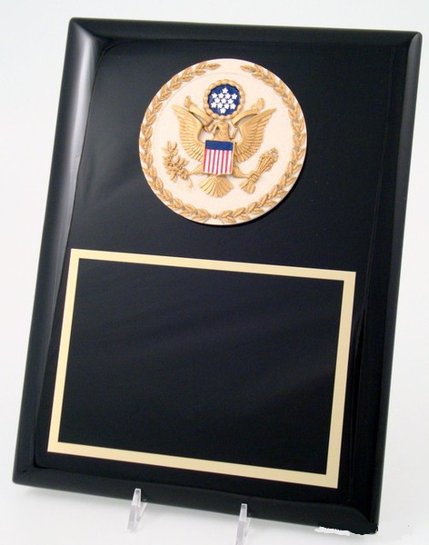 Black Plaque Piano Finish, Great Seal of U.S.-Plaque-Schoppy's Since 1921
