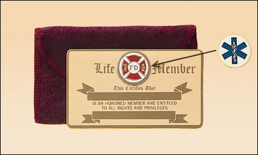 Life Member Bronze Wallet Card