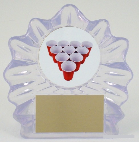 Beer Pong Rack Acrylic Trophy