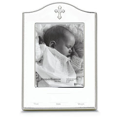 "Abbey Silverplate Birth Record Frame 4"" x 6""-Frame-Schoppy's Since 1921"