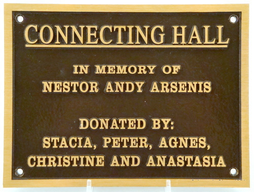 Bronze Cast Plaque