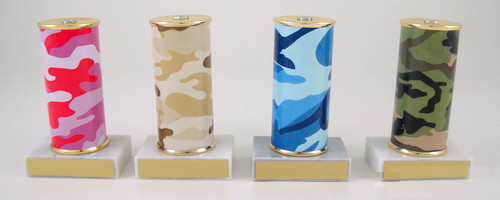 Camouflage Custom Round Column with Figure of Your Choice