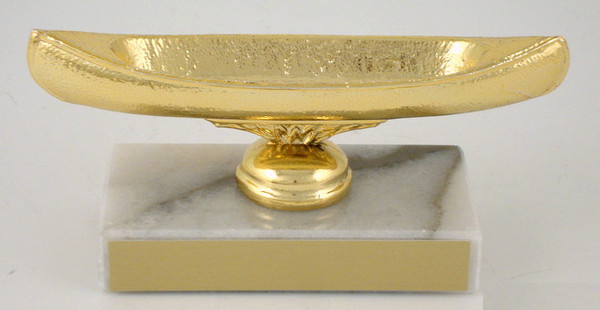 Canoe Dye Cast Trophy on Genuine Marble Base-Trophies-Schoppy's Since 1921