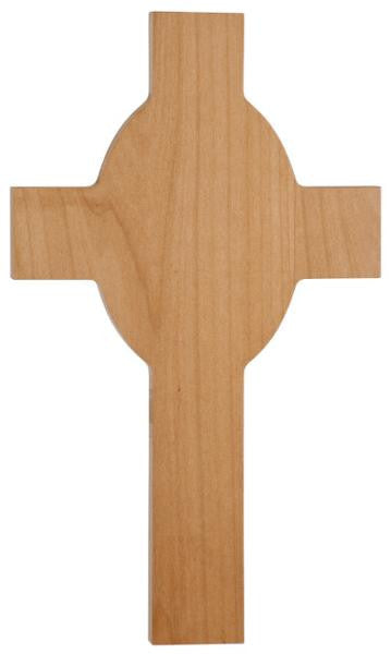 Wooden Cross with Engraved Message