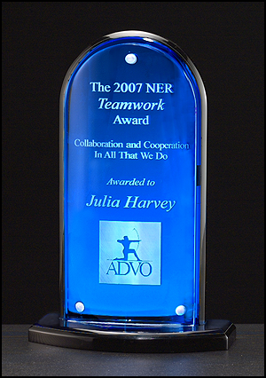 Acrylic Award - Arch with Blue Mirror-Plaque-Schoppy's Since 1921