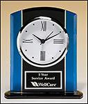 Blue and Black Glass Clock-Clock-Schoppy's Since 1921