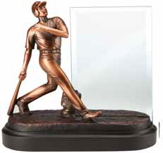 Baseball Glass Pane Resin Trophy-Trophies-Schoppy's Since 1921