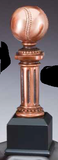 Baseball Electroplated Pedestal Resin Trophy-Trophies-Schoppy's Since 1921