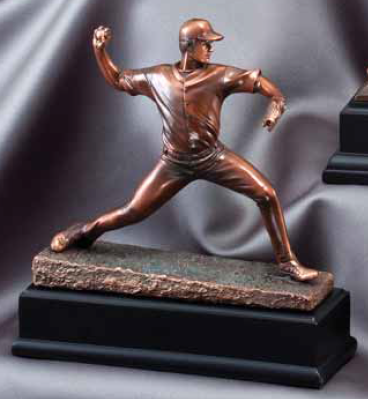 Baseball Pitcher Resin Trophy-Trophies-Schoppy's Since 1921