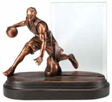 Basketball Glass Pane Resin Trophy-Trophies-Schoppy's Since 1921