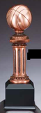 Basketball Electroplated Pedestal Resin Trophy-Trophies-Schoppy's Since 1921