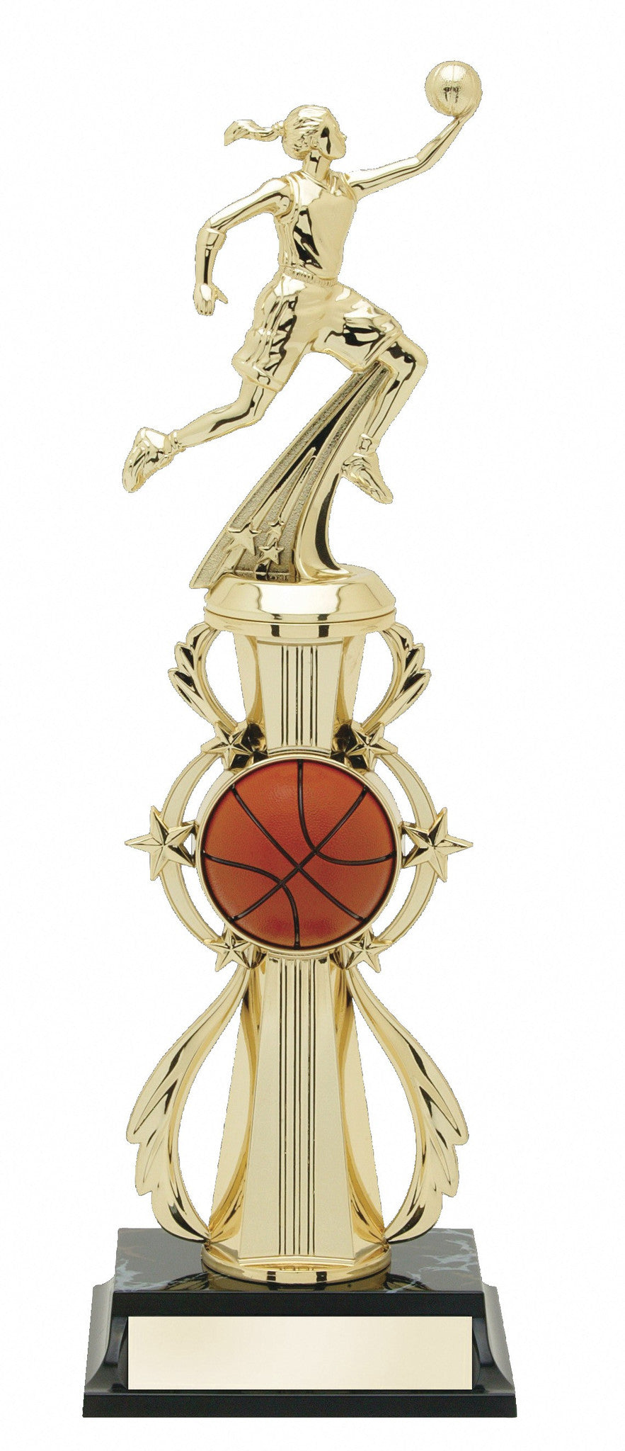 Basketball Pre-Built All-Star Trophy Female-Trophies-Schoppy's Since 1921
