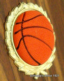 Basketball Round Column Trophy with Relief Ball Logo-Trophies-Schoppy's Since 1921