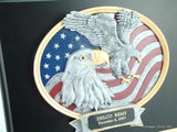 Black Plaque with Eagle Resin-Plaque-Schoppy's Since 1921