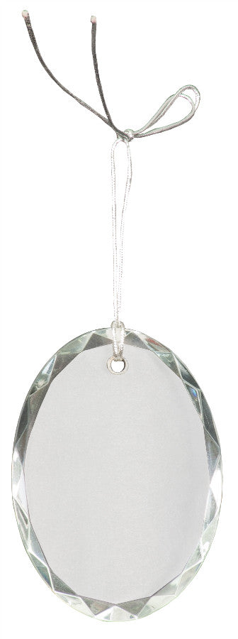 "3"" Crystal Oval Facet Ornament"