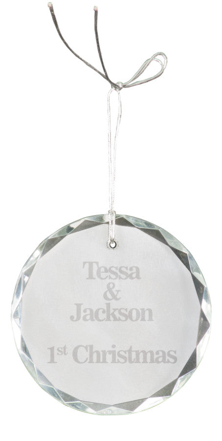 "3"" Crystal Round Facet Ornament"