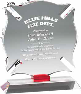 Optical Crystal Firematic Award-Glass & Crystal Award-Schoppy's Since 1921