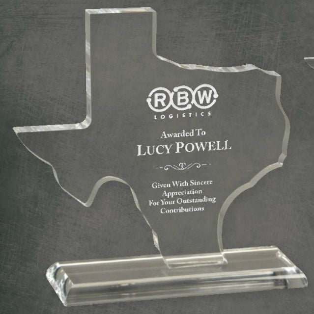 Texas Clear Acrylic Award