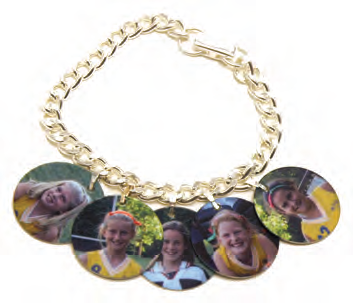 Additional Circle Photo Charm for Bracelet