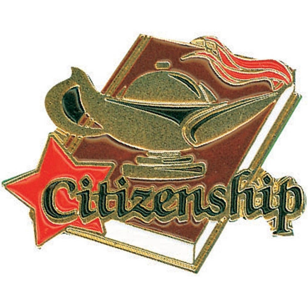Citizenship Lamp of Learning Pin