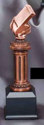 Whistle Electroplated Pedestal Resin Trophy-Trophies-Schoppy's Since 1921