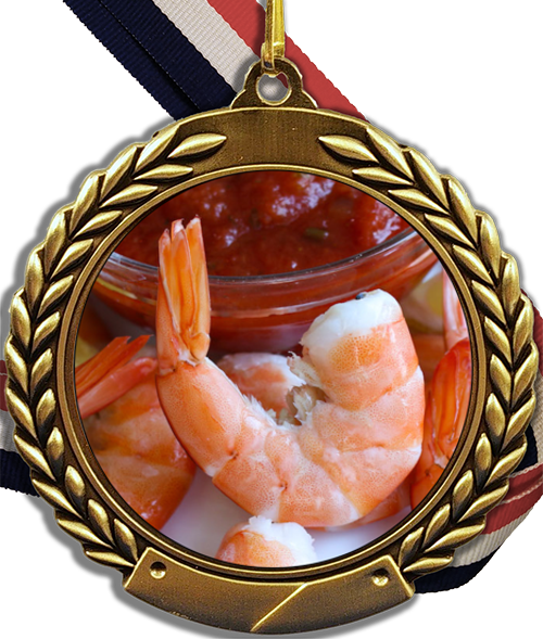 Shrimp Logo Medal
