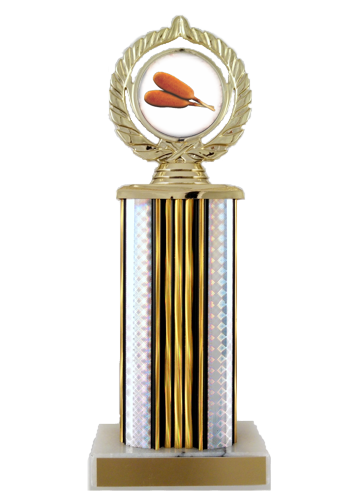Corn Dogs Logo Trophy on Wide Column