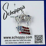 Crown and Flag Pin-Jewelry-Schoppy's Since 1921
