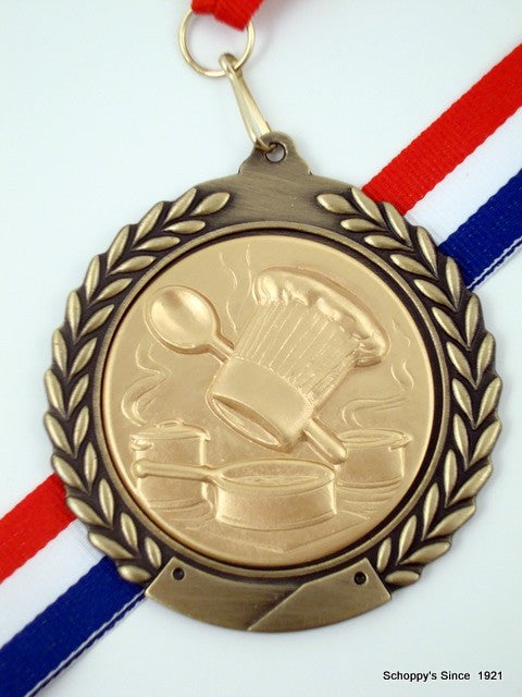 Culinary Chef Medal on Red, White & Blue Ribbon | Schoppy ...Red And Blue Ribbon Logo