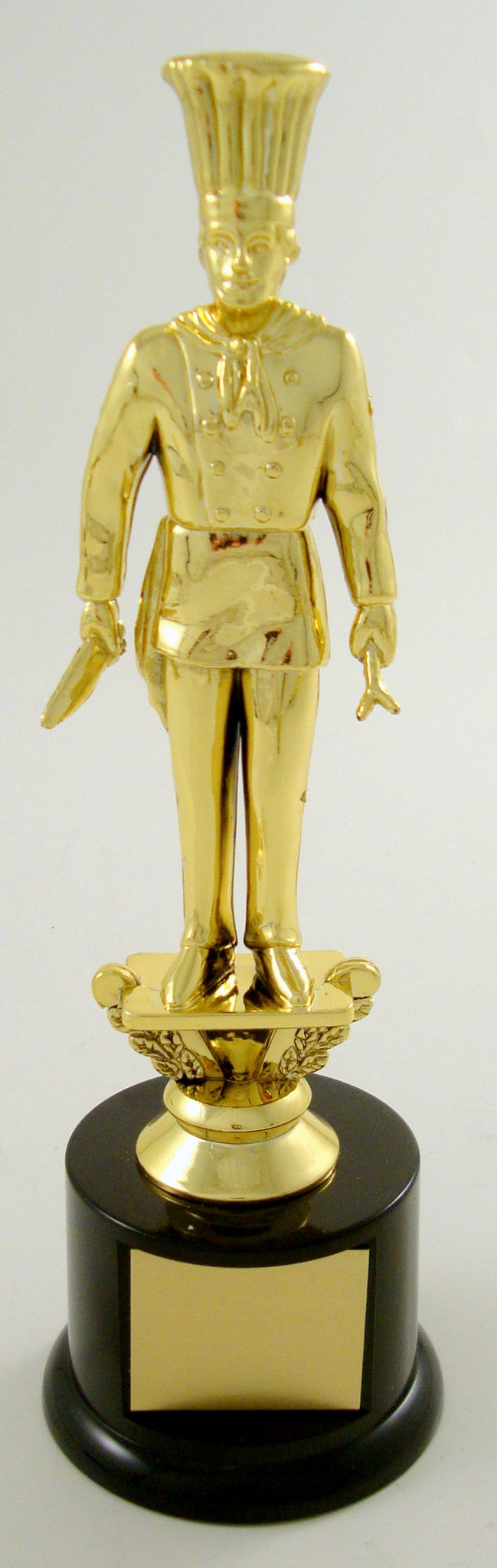 Chef Trophy Figure On Black Round Base-Trophies-Schoppy's Since 1921