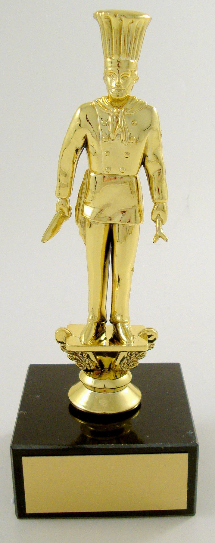 Chef Trophy Figure on Black Marble base-Trophies-Schoppy's Since 1921