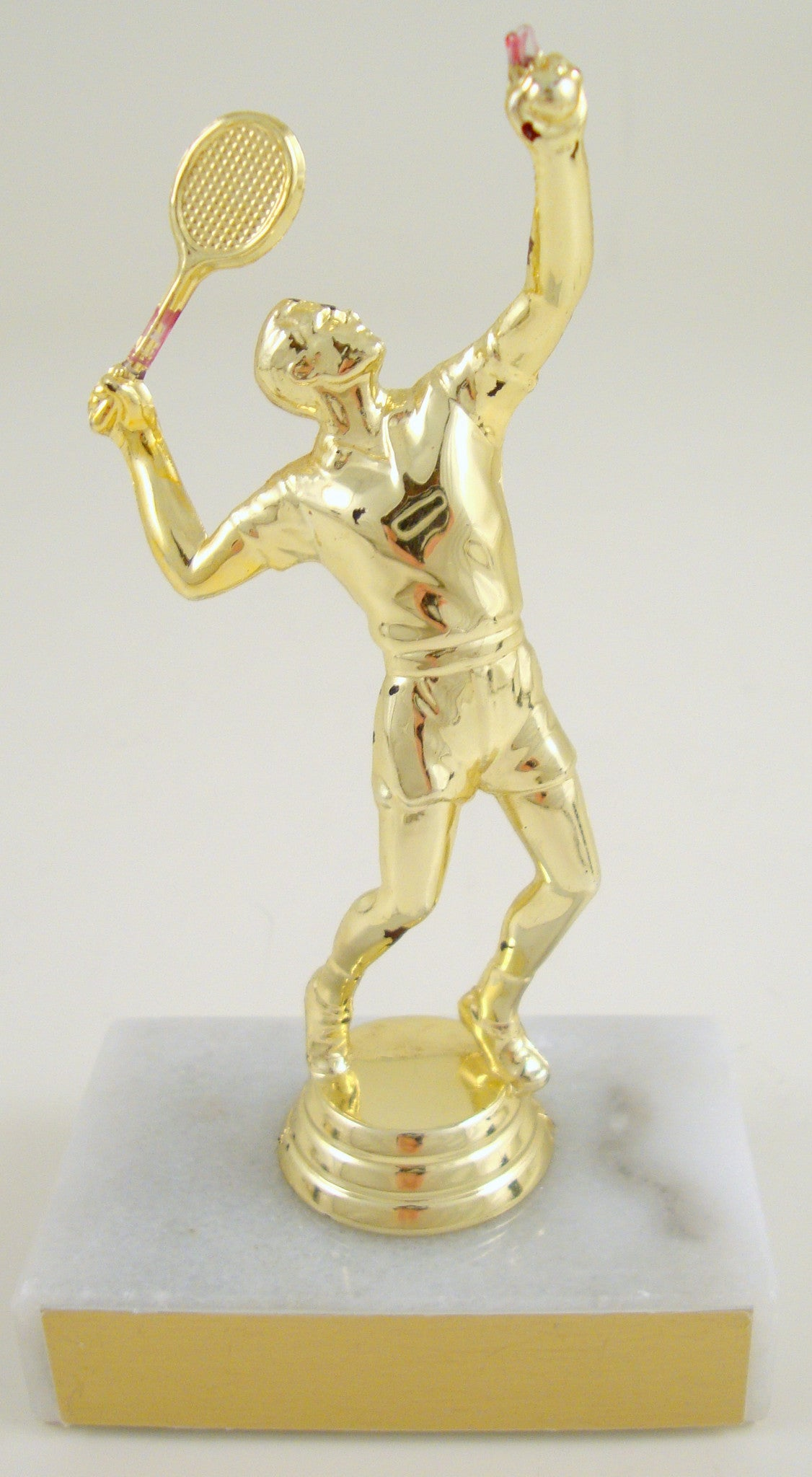 Tennis Trophy on Marble Base-Trophies-Schoppy's Since 1921