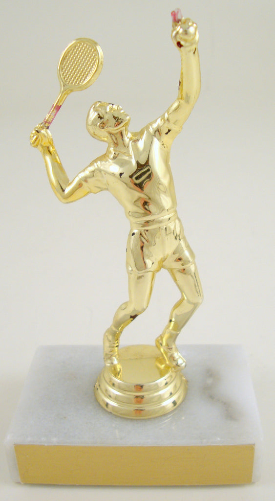 Tennis Trophy on Marble Base