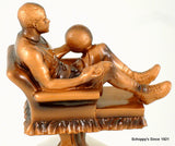 Recliner Basketball on Black Round Base-Trophies-Schoppy's Since 1921