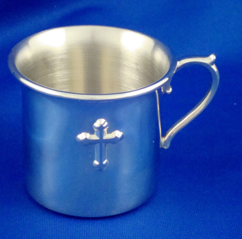 Reed & Barton Baby Cup With Cross
