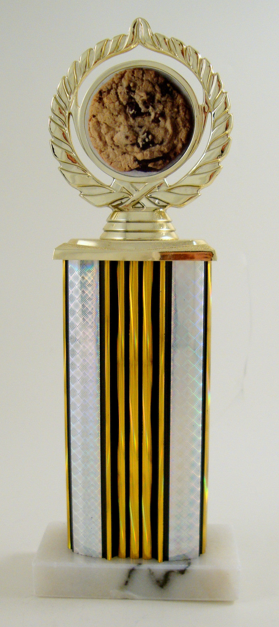 Cookie Logo Trophy on Wide Column and Marble Base-Trophy-Schoppy's Since 1921