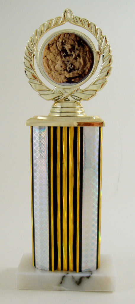 Cookie Logo Trophy on Wide Column and Marble Base