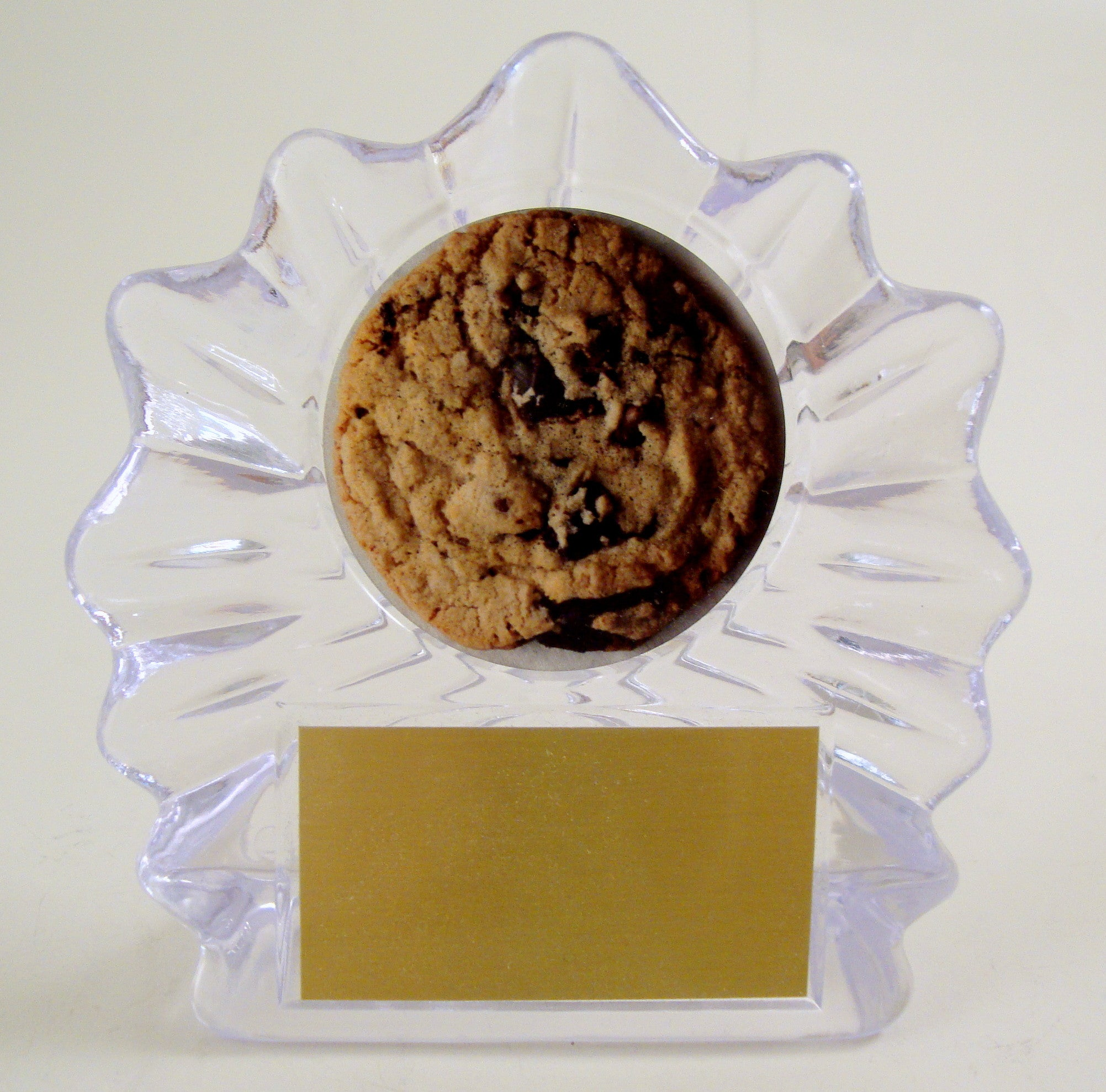 Cookie Logo On Flame Acrylic-Trophy-Schoppy's Since 1921