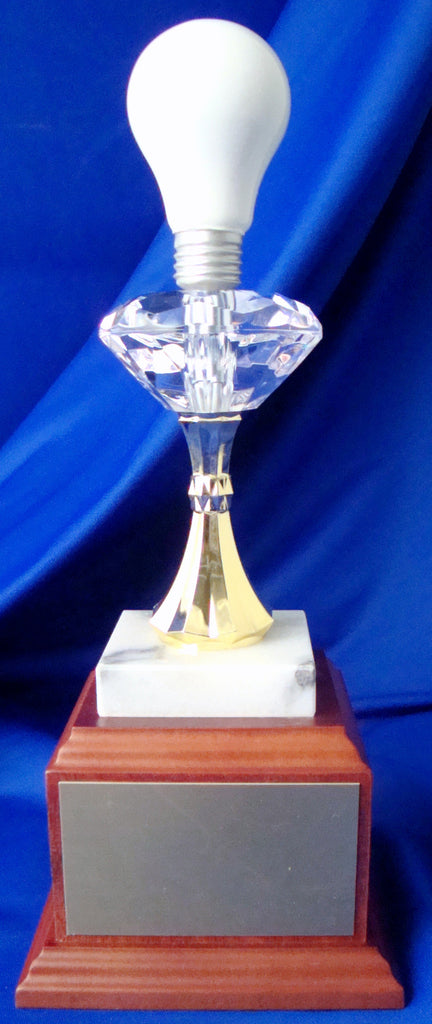 Light Bulb Diamond Post Trophy